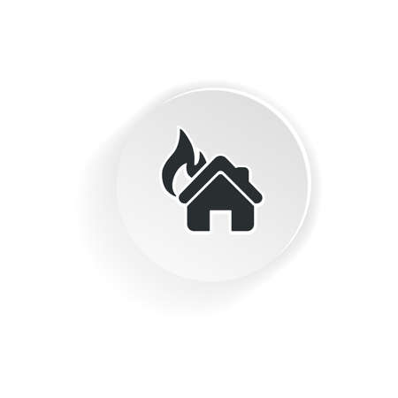 House on fire icon. Preventing Fire. Fire Alarm icon  isolated on white background 일러스트