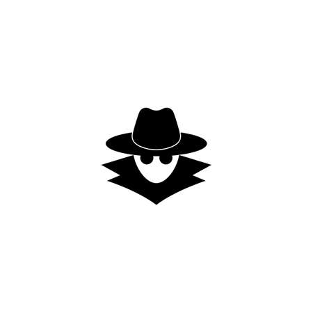 Incognito icon. Browse in private. Spy agent, secret agent, hacker. Vector on isolated white background. EPS 10.