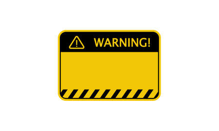 Warning sign. Empty blank. Vector on isolated background.