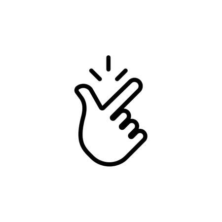 Snap of fingers line icon. Vector on isolated white background.