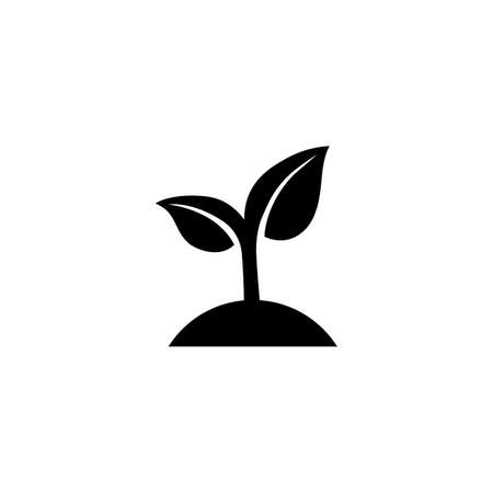Seeding icon. Sprout. Ecology concept. Vector on isolated white background Vettoriali