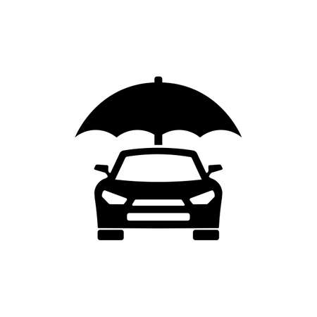 Car insurance icon. Protection concept. Vector on isolated white background.