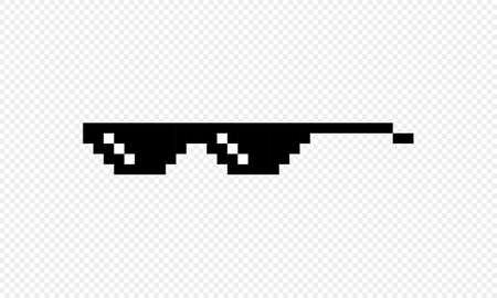 Thug life glasses icon. Pixel goggles.