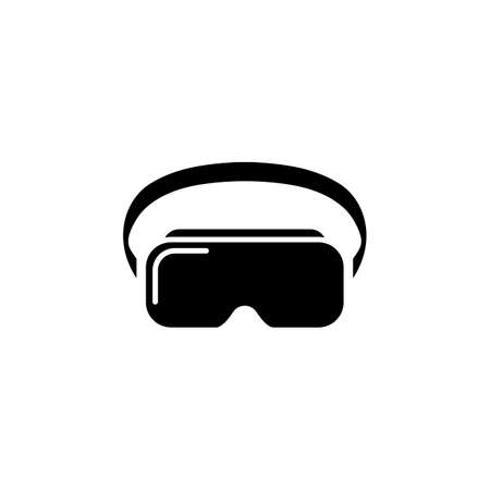 VR headset icon. Virtual reality device, glasses. Vector on isolated white background
