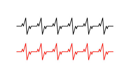 Heartbeat rhythm line icon. Cardiogram. Vector on isolated white background.