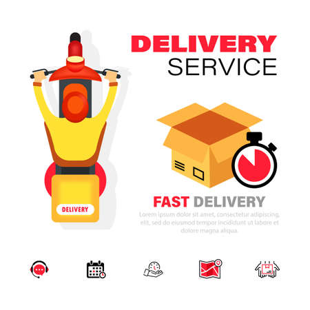Delivery service icon. Express, fast transportation. Vector on isolated white background. Vektoros illusztráció