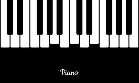 Music background with piano keys. Piano keys in flat style.
