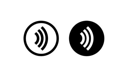 Contactless payment icon. NFC sign. Tap to pay. Vector on isolated white background.