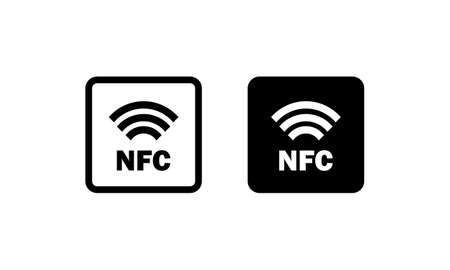 NFC sign. Contactless payment. Vector on isolated white background.