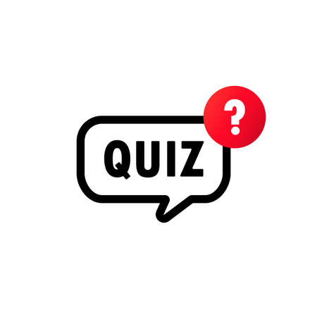 Quiz with question mark sign icon. Questions and answers game symbol. Vector on isolated white background. Çizim