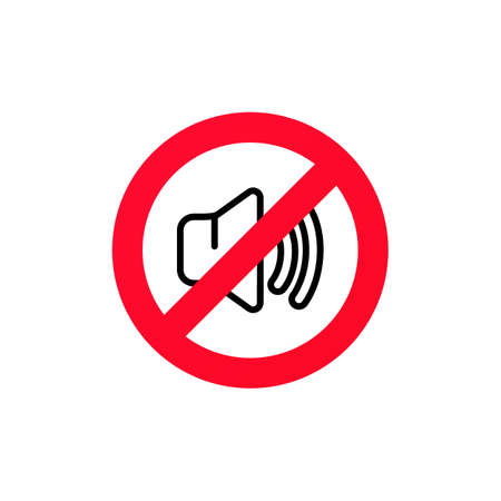 No sound sign. Silent mode icon. Vector on isolated white background Illusztráció