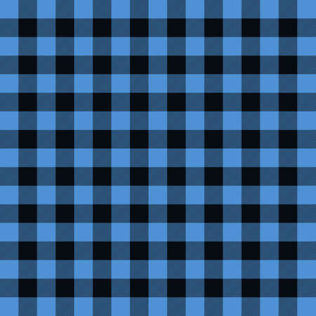 Blue tartan plaid pattern. Vector on isolated background
