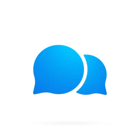 Chat message bubbles icon. SMS mail icon in flat. Vector illustration.