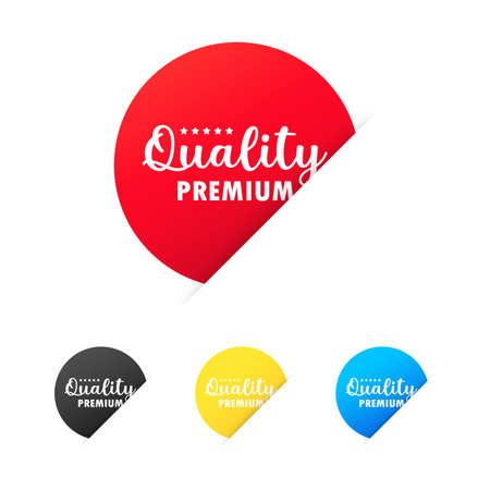 Premium quality sticker set. For graphic and web design. Vector on isolated white background. EPS 10. Vektorgrafik