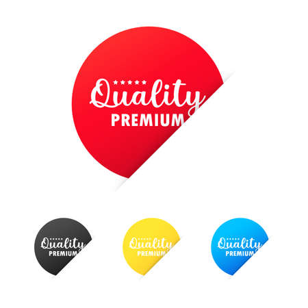 Premium quality sticker set. For graphic and web design. Vector on isolated white background. EPS 10. Vector Illustratie