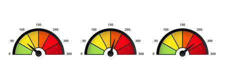 Speedometer icon. Min and max speed. Vector on isolated white background. EPS 10