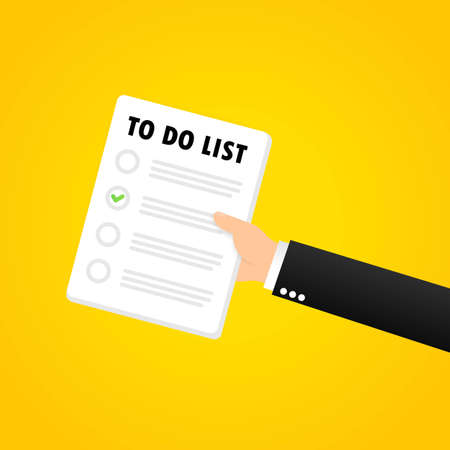 To do list banner. Month planning, time management. Organization. Vector on isolated background. EPS 10.