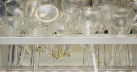 calibrated: calibrated flask