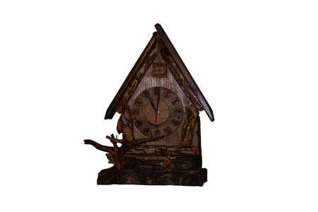 reloj cucu: Viejo reloj cuco Foto de archivo