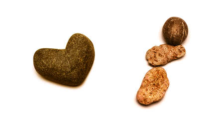 Sea stones on a white background
