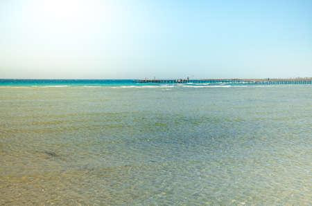 Beautiful sea view with blue skies/Beautiful sea view with blue skies on summer day Foto de archivo