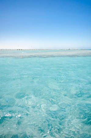 Beautiful sea view with blue skies/Beautiful sea view with blue skies on summer day Foto de archivo - 146556863
