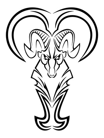 Vector template aries