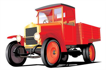 Vector illustration retro cargo truck