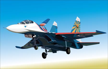 航空ショー: ベクトル イラスト空気戦闘機