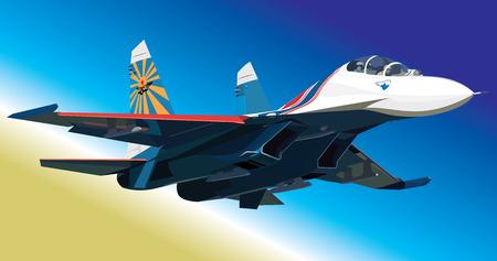 Vector illustration air fighter