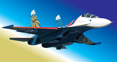 supersonic transport: Vector illustration air fighter