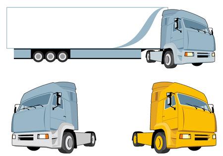 Vector design element semi-truck