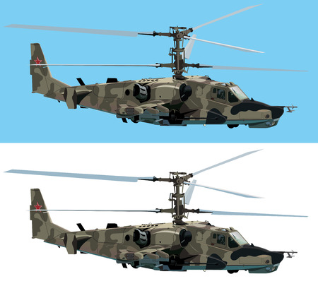 helicopters: Combat helicopter vector design element Illustration