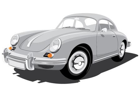 sport car isolated on white background Illustration
