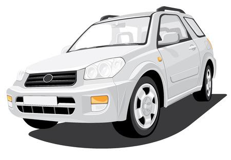 suv: Vector isolated SUV