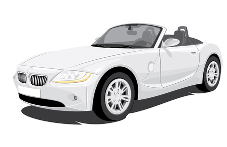 Vector Convertible Car without gradients