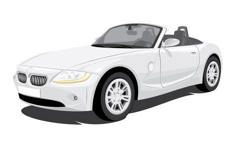 convertible car: Vector Convertible coches sin degradados