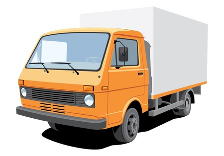 isolated delivery truck, without gradients Vector