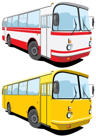 autobus: Vector isolated bus without gradients
