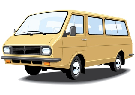 Vector isolated mini bus without gradients Vector