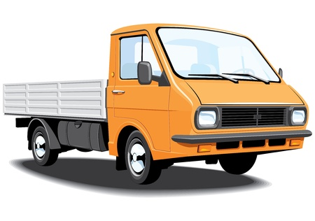 Vector isolated small truck without gradients. Stock Vector - 11438082