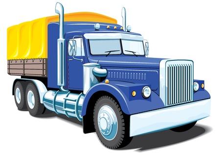 yellow tractor: aislados de camiones pesados ??sin gradientes.