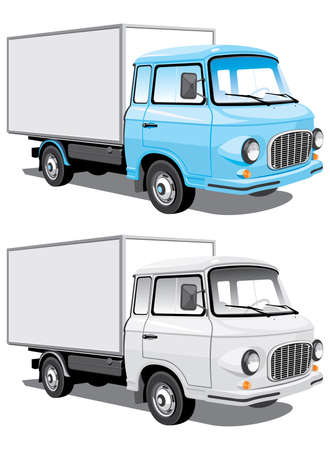 Vector isolated delivery truck Vector