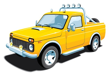 camioneta pick up: Vector aislado vehículo off-road sin gradientes