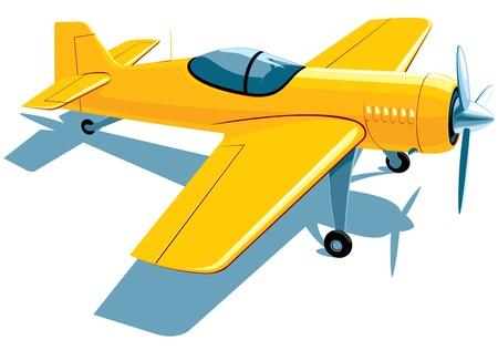 yellow sport airplane