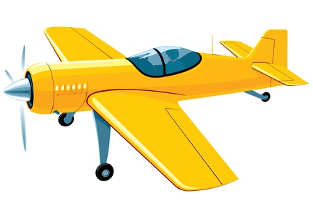 small plane: flying sport airplane Illustration