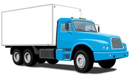 semi truck: cami�n de reparto aislado Vectores