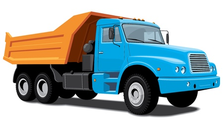 isolated dump truck Vector