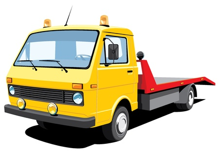 isolated tow truck Stock Vector - 15689576