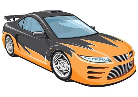 course de voiture: isol� voiture de sport Illustration